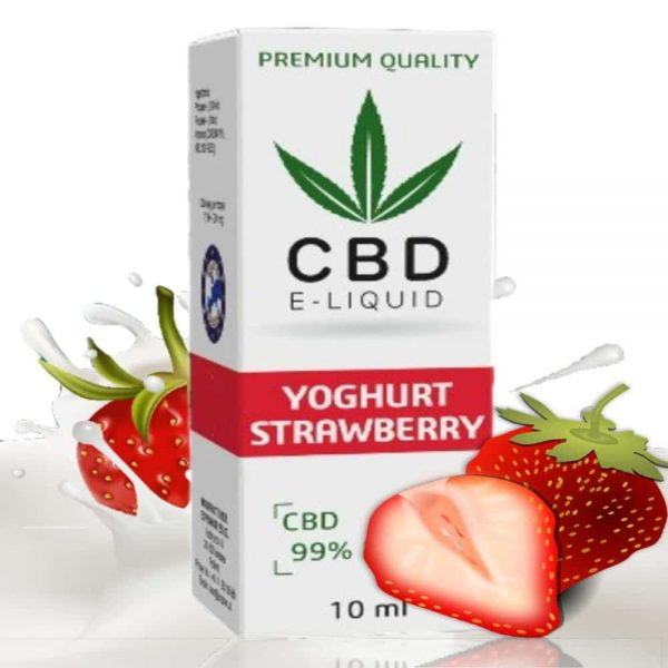 CBD Vape Liquid - Strawberry Yoghurt
